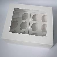 Коробка на 12 капкейков (с окошком)