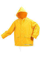 Куртка с капюшоном водонепроницаемая VOREL желтая, размер L