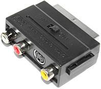 Штекер Scart - 3 гнезда RCA (с переключателем)