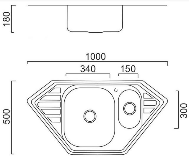 Кухонная мойка Imperial 9550-С Decor двойная