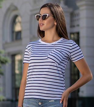 / Размер 42-44,46-48,50-52 / Женская молодежная футболка с карманом Believe