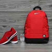 Яркий стильный рюкзак найк аир Nike Air Отличное качество Красный с черным Vsem