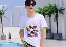Яркая футболка Больших размеров XXXL 3XL рисунок SWEET DREAMS SHARK