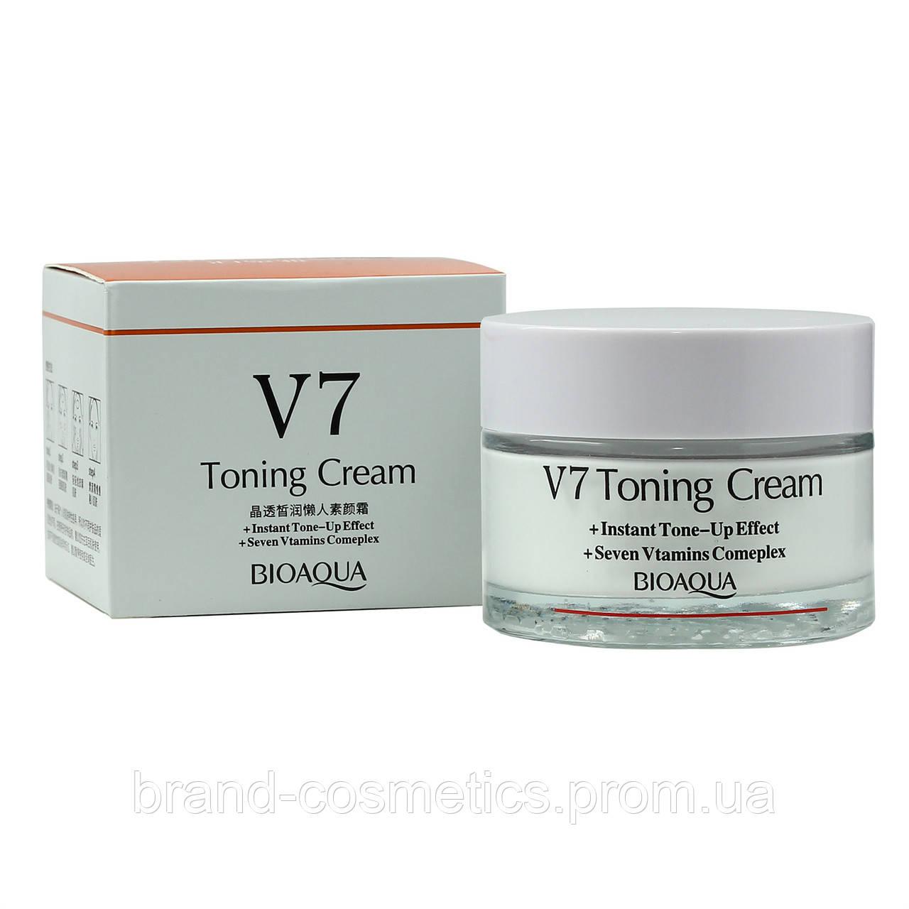 Крем для лица Bioaqua V7 Toning Cream отбеливающий с витаминным комплексом 50 мл