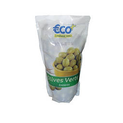 Оливки зеленые с косточкой  Eco 400 г