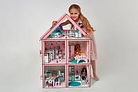 Деревянный кукольный домик для барби, 3 этажа