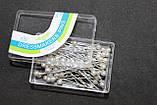 Булавки портновские с шариком в коробке 80шт/уп, фото 2