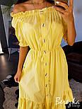 Женский хлопковый сарафан с воланом (в расцветках), фото 6