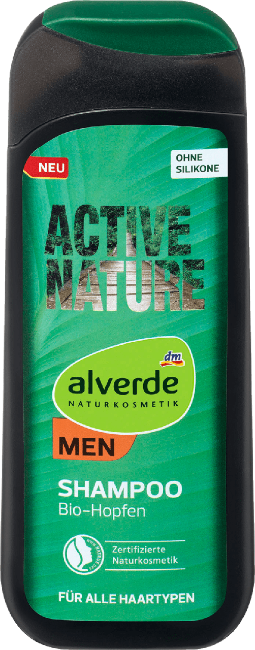 Мужской шампунь alverde NATURKOSMETIK MEN Active Nature, 200 ml