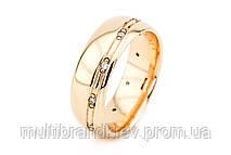 Золотое обручальное кольцо с бриллиантами (женское)