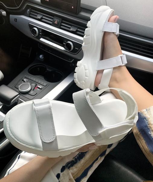 """Женские сандалиBuffalo London Sandals """"White"""" ( в стиле Буффало )"""