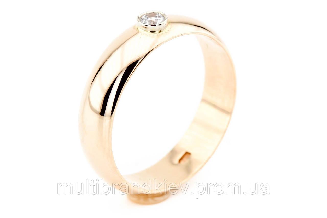 efaa417a5680 Золотое обручальное кольцо с бриллиантом (мужское)