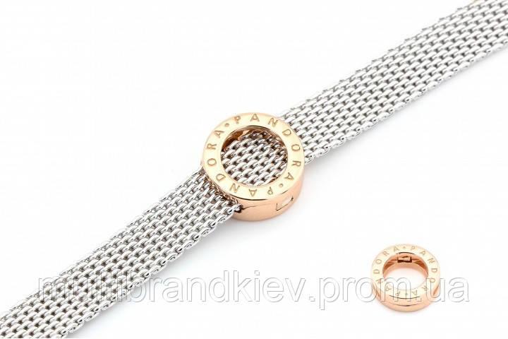 Серебряный шарм для плоских браслетов