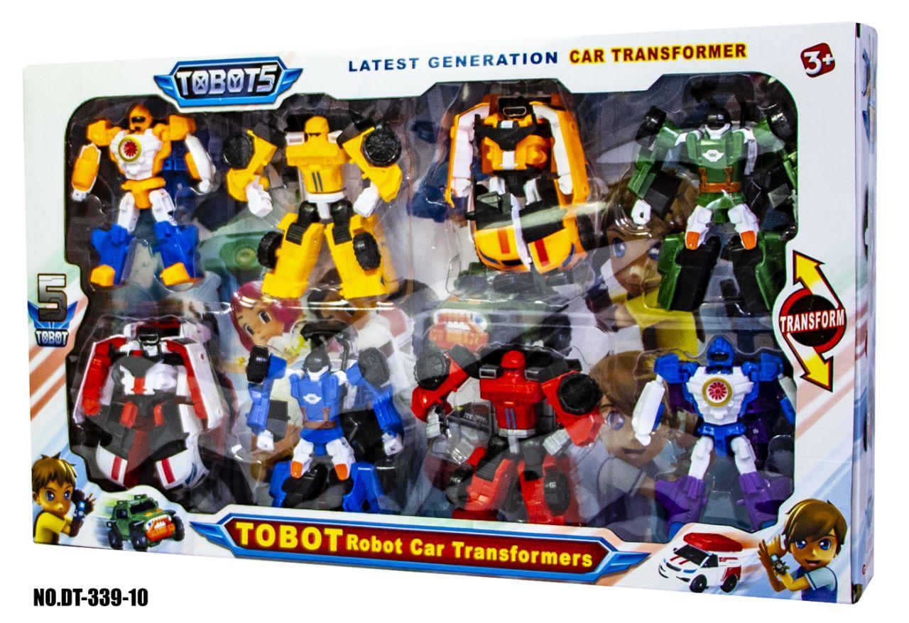 Мега-Набор 8 роботов-трансформеров Тобот (Tobot DT-339-10)