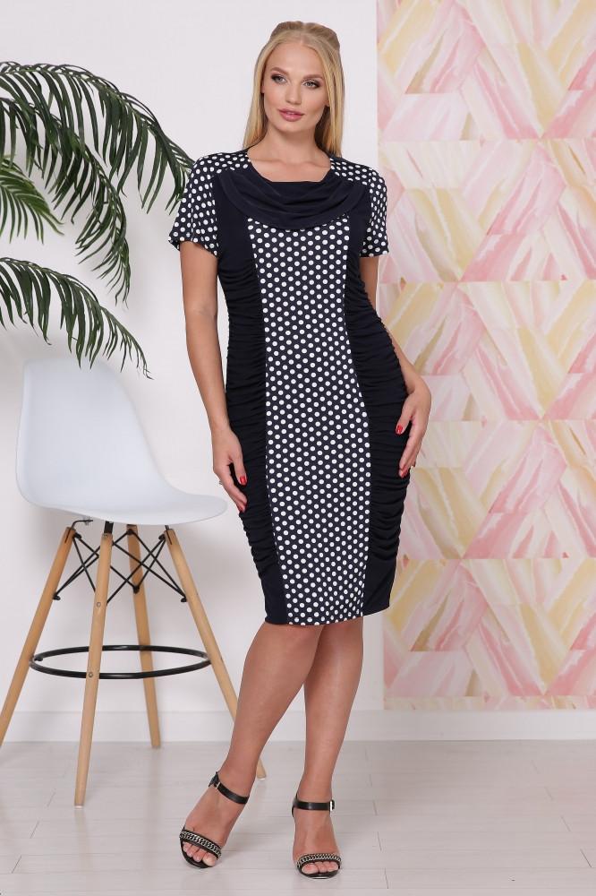 Стильное женское  платье с эффектом зрительной коррекции фигуры батал с 50 по 60 размер