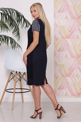 Стильное женское  платье с эффектом зрительной коррекции фигуры батал с 50 по 60 размер, фото 2