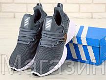 """Мужские кроссовки adidas Alphabounce Instinct """"Grey"""" (Aдидас) серые, фото 3"""