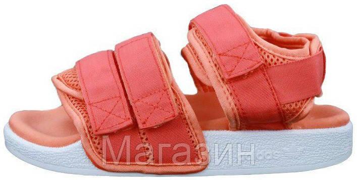 Женские сандалии Adidas Adilette Sandal 2.0 Pink/White (Адидас) розовые