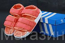 Женские сандалии Adidas Adilette Sandal 2.0 Pink/White (Адидас) розовые, фото 3