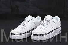 """Женские кроссовки Nike Air Force 1 '07 SE Premium """"White"""" (в стиле Найк Аир Форс низкие) белые, фото 3"""