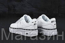 """Женские кроссовки Nike Air Force 1 '07 SE Premium """"White"""" (в стиле Найк Аир Форс низкие) белые, фото 2"""