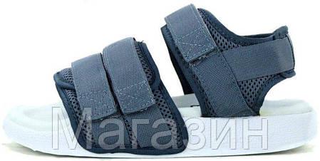 Женские сандалии adidas Sandals Grey/White (босоножки Адидас) серые, фото 2