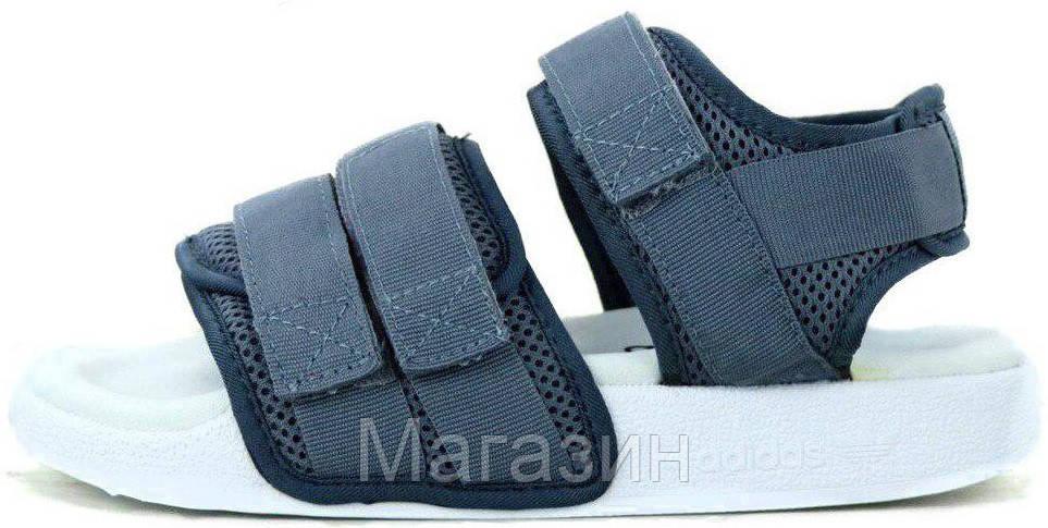 Женские сандалии adidas Sandals Grey/White (босоножки Адидас) серые