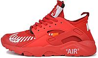 "Мужские кроссовки Off-White x Nike Air Huarache Ultra ""Red"" (в стиле Найк Хуарачи) красные"