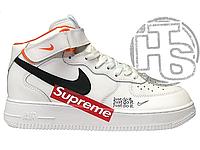 Мужские кроссовки Nike Air Force 1 High Supreme White Black