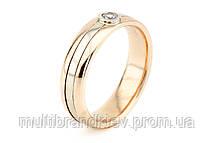 Золотое обручальное кольцо с фианитами (женское)