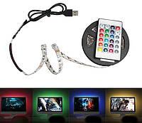 Цветная светодиодная лед лента 3528 + контроллер + USB + пульт RGB 3 метра полный комплект