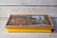 """Поднос на подушке """" The streets of Paris """", фото 1"""