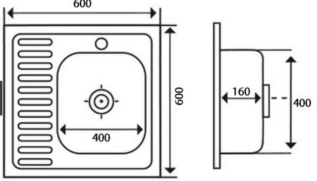 Кухонная Мойка Imperial 6060-L Decor 0,6 Мм