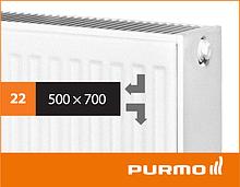 Сталевий панельний радіатор PURMO Compact 22 500x 700