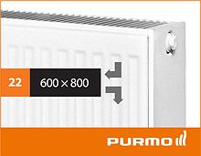 Сталевий панельний радіатор PURMO Compact 22 600x 800