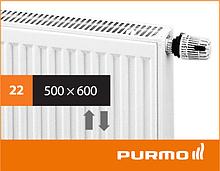 Сталевий панельний радіатор PURMO Ventil Compact 22 500x 600