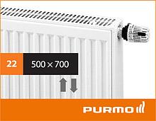 Сталевий панельний радіатор PURMO Ventil Compact 22 500x 700