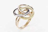 Золотое кольцо в форме переплетенных кругов
