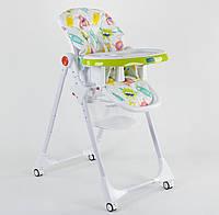 Детский стульчик для кормления JOY К-33740, салатовый, регулируемая спинка
