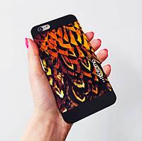 """Пластиковый чехол Motomo iPhone 6/6S, животный принт """"Перья"""""""