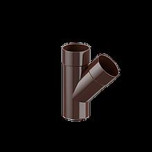 Трійник 87° Fitt 125 коричневий