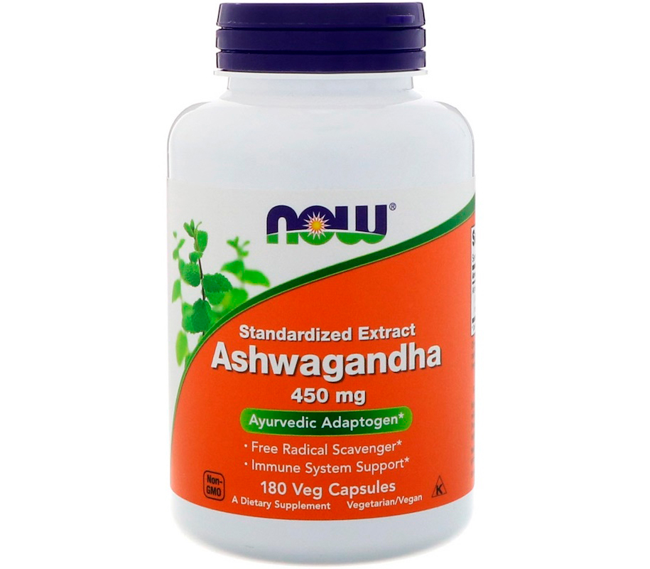 Антидепрессант NOW Foods Ashwagandha (450 мг) (180 капс)