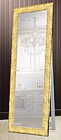 Зеркало напольное в раме Factura  с деревянной подставкой Textured gold 60х174 золото, фото 1