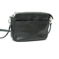 Шкіряна сумка модель 21 чорний флотар, фото 1