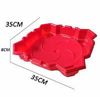 Арена пластиковая XD-Toys Beyblade волчков с карманами 35 см Красная
