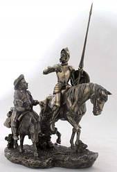 Настольная статуэтка Дон Кихот и Санчо Панса из полистоуна с бронзовым напылением Veronese