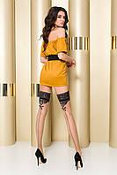 Сексуальные чулки на силиконовой резинке beige ST103