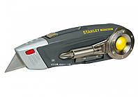 Нож 4 в 1 STANLEY плоскогубцы, отверточный держатель, двусторонняя насадка