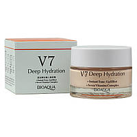 Крем для лица увлажняющий BioАqua V7 Deep Hydration Cream, 50 мл ПРИМЯТАЯ КОРОБКА