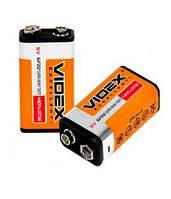 Батарейка Videx 6F22 крона 9 V